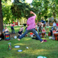 Bubnování v parku