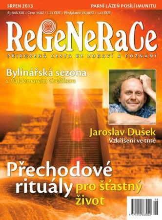 Obálka časopisu ReGeNeRaCe, srpen 2013